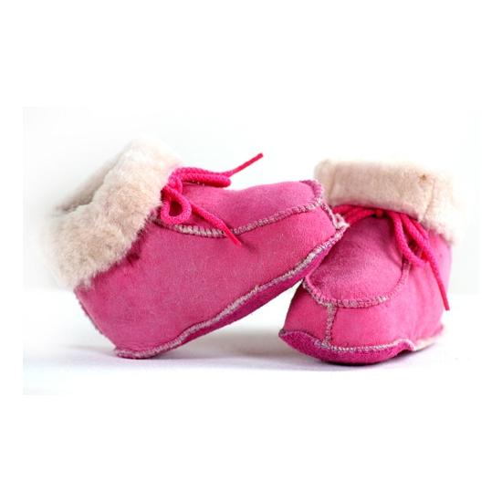 347c0f7379b Roze baby sloffen, Baby slofjes - Knuffels-shop.nl